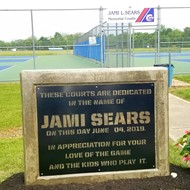 Jami Sears Memorial Courts signage