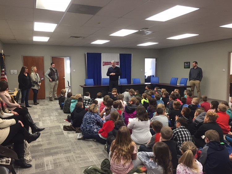 Third Grade students visit new Board Office on Field Trip