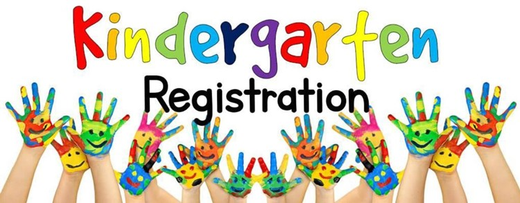 Kindergarten Registration with painted hands