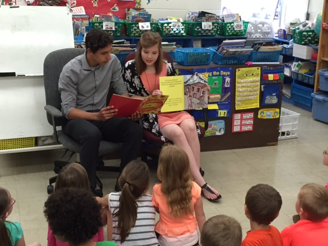High School Students Write, Illustrate, and Read Storybooks to Elementary Students