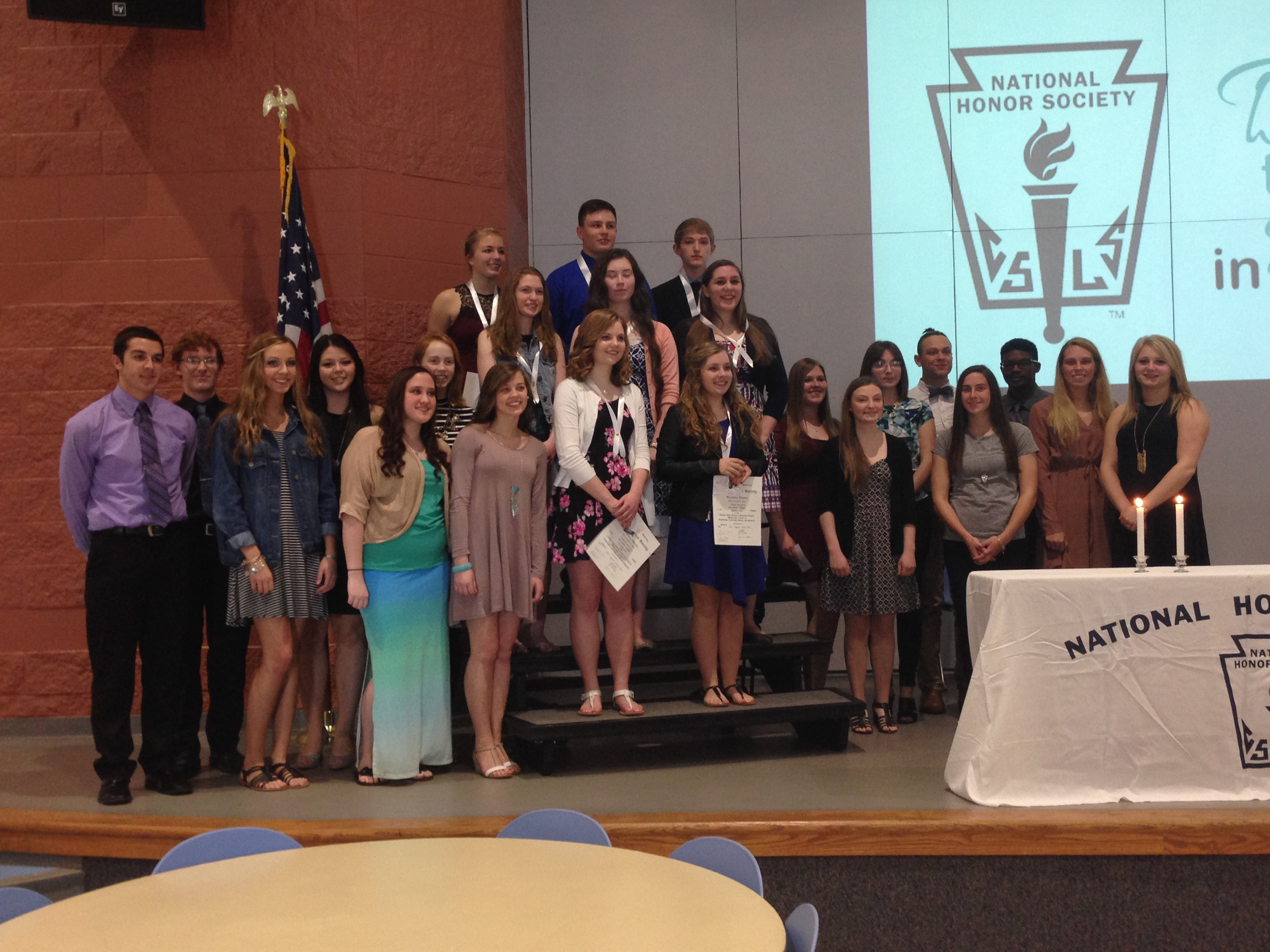 NHS Inducts New Members; Completes Over 810 Hours of Service