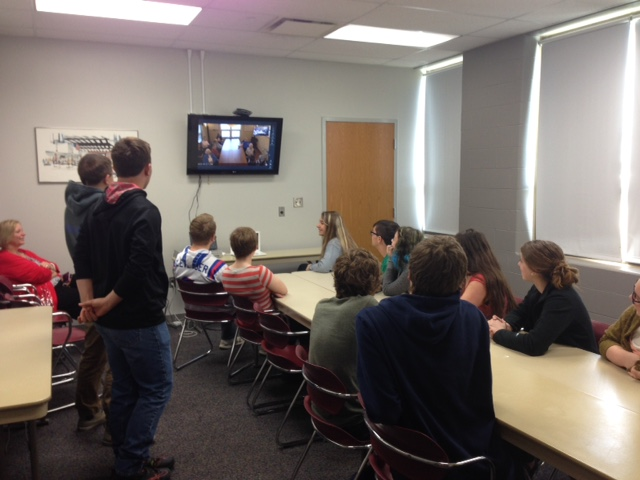 Students Video Conference with Nursing Home Residents