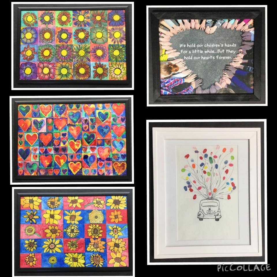Elementary Student Artwork Submitted for Auction