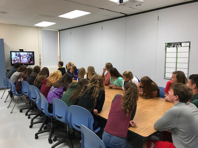 Students Video Conferencing with Nursing Home